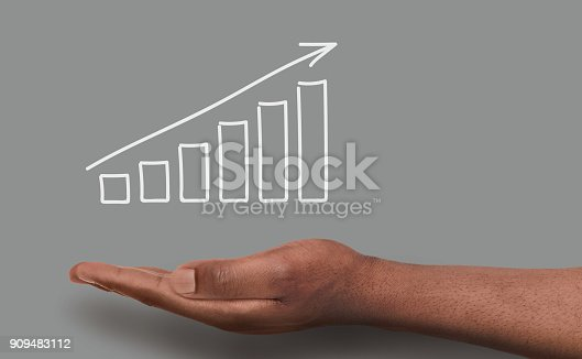 istock Financial graph conceptual background 909483112