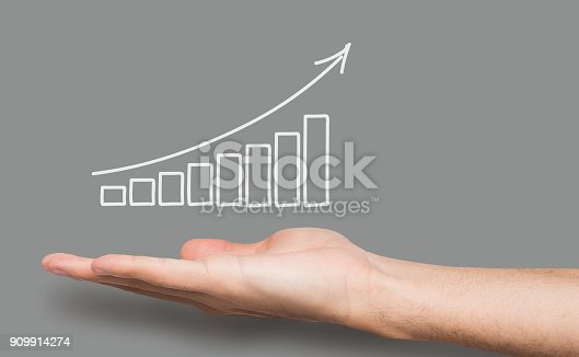 istock Financial graph conceptual background 909914274