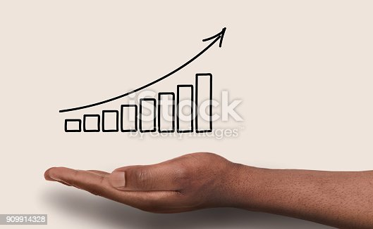 istock Financial graph conceptual background 909914328
