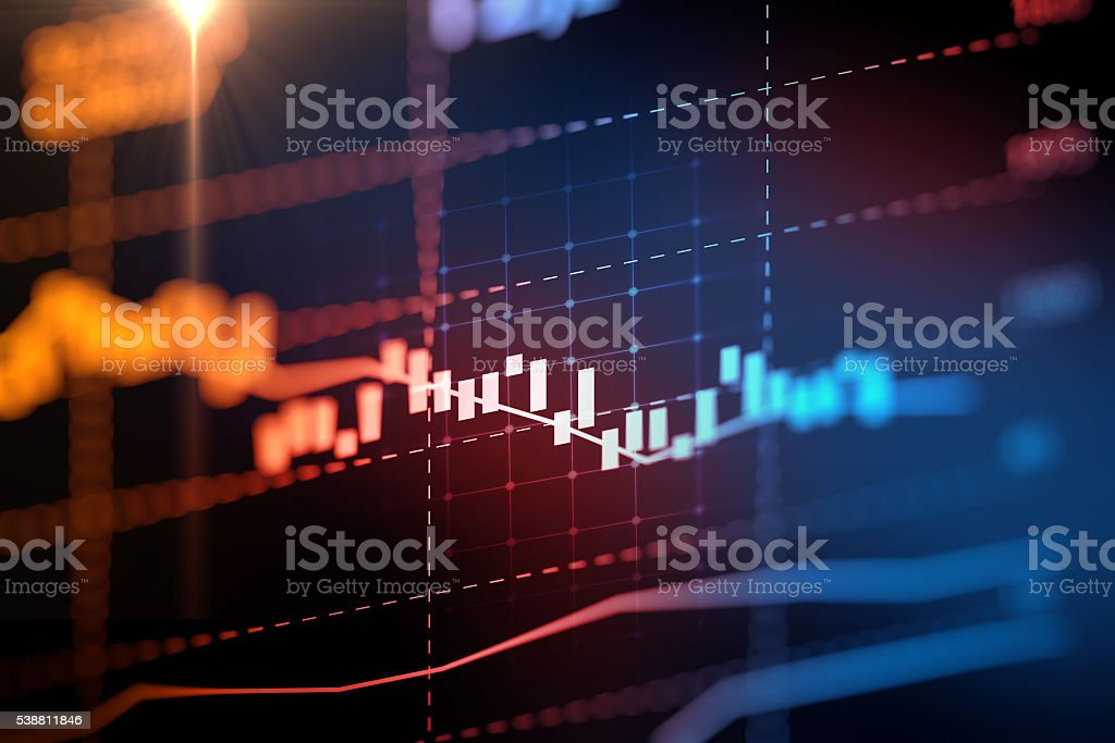 financial graph on technology abstract background represent financial...