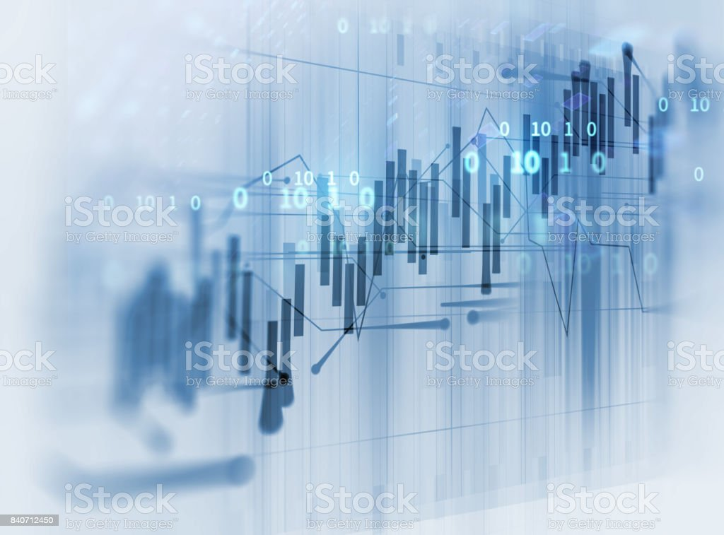financial graph on technology abstract background stock photo