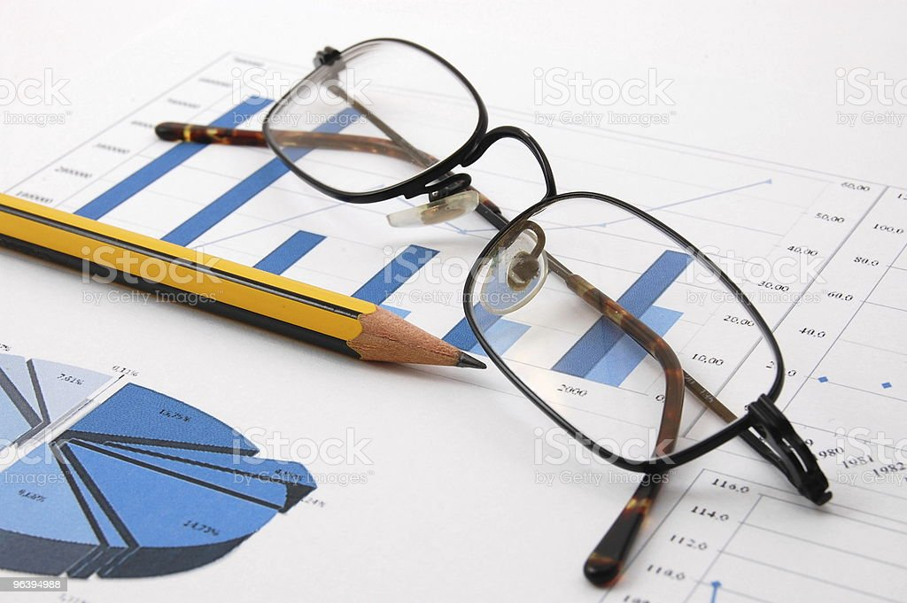 financial graph - Royalty-free Blue Stock Photo