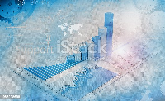 istock Financial graphs and charts 966258698