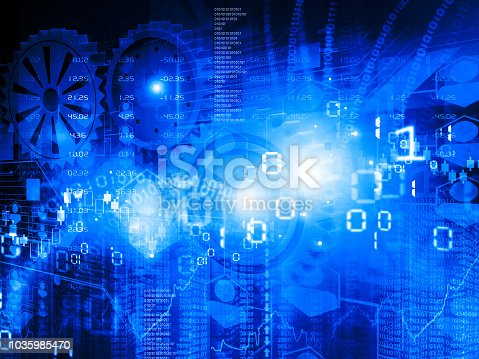 istock Financial graphs and charts shows business growth 1035985470