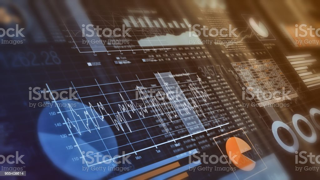 financial graphs background royalty-free stock photo