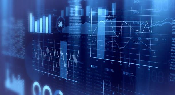finanzielle graphen hintergrund - geschäftsstrategie stock-fotos und bilder