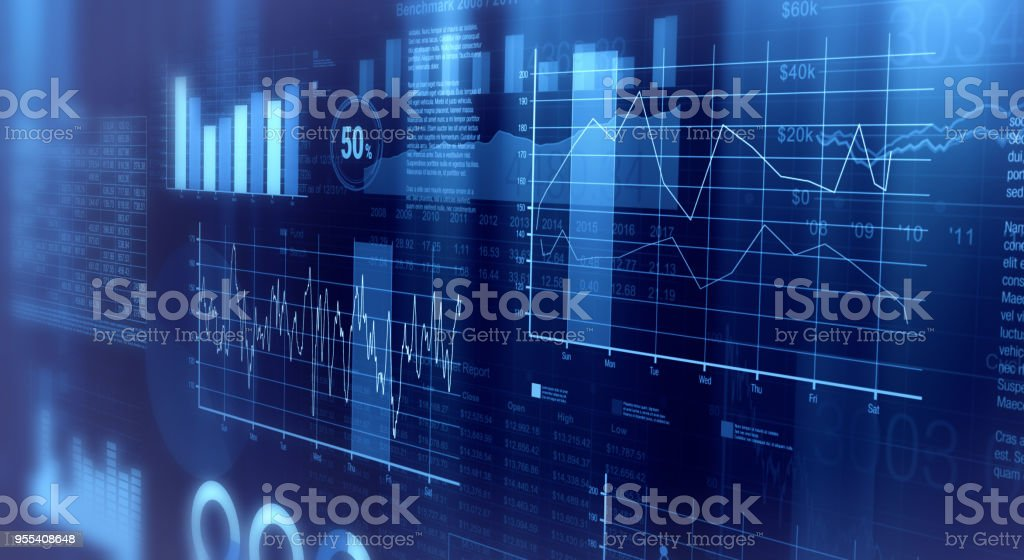 financial graphs background stock photo