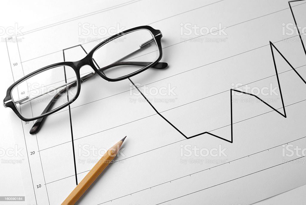 Financial graphs royalty-free stock photo