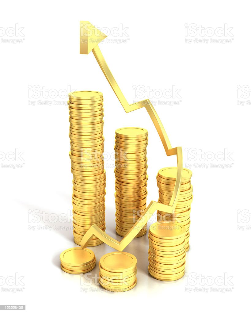 financial growth 3d concept royalty-free stock photo