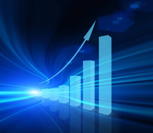 Finanzwachstumsdiagramm – Foto
