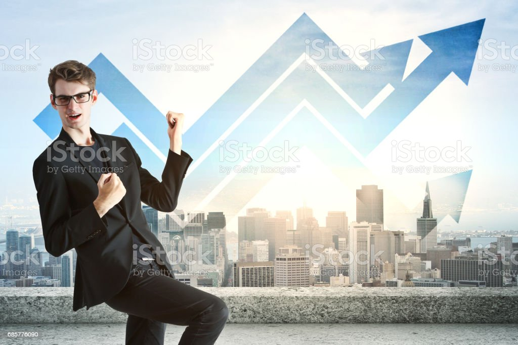 Financial growth concept royalty-free stock photo
