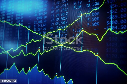 istock Financial Growth Report Blue 815062742