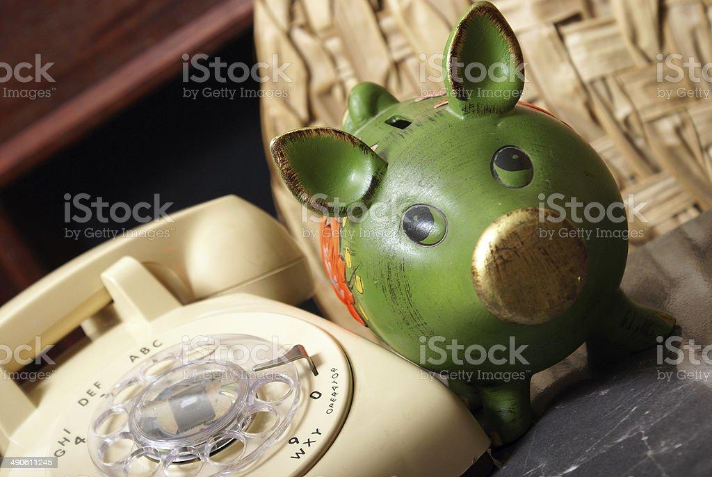Financial Hotline stock photo