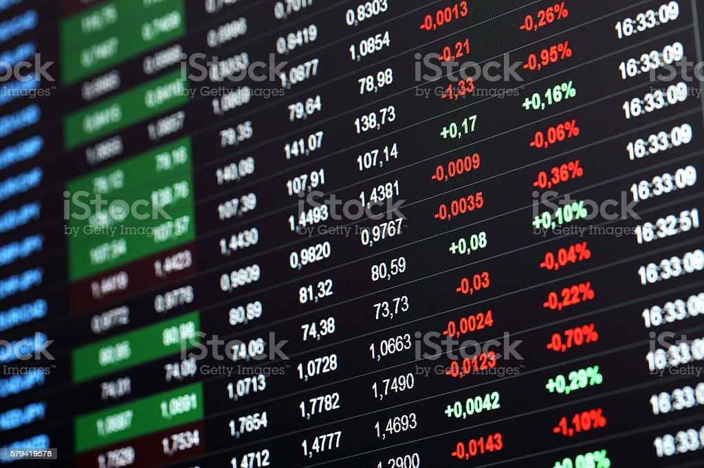 Financial information stock photo