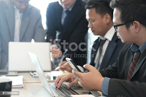 istock financial inspector analyze accounting plan report. businessman working with new startup project. internal auditor audit performance revenue. business meeting at office. 912989580