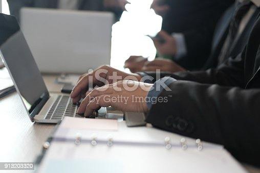istock financial inspector analyze accounting plan report. businessman working with new startup project. internal auditor audit performance revenue. business meeting at office. 913203320