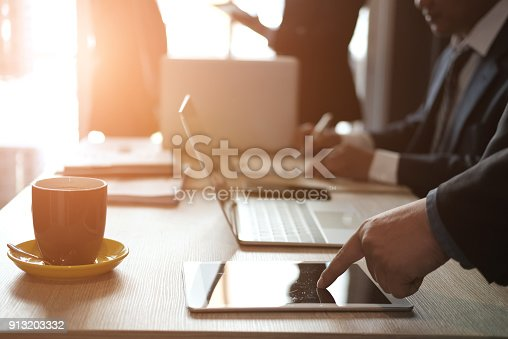 istock financial inspector analyze accounting plan report. businessman working with new startup project. internal auditor audit performance revenue. business meeting at office. 913203332