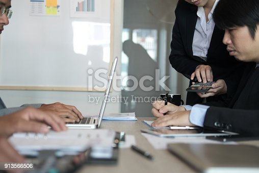 istock financial inspector analyze accounting plan report. businessman working with new startup project. internal auditor audit performance revenue. business meeting at office. 913566506