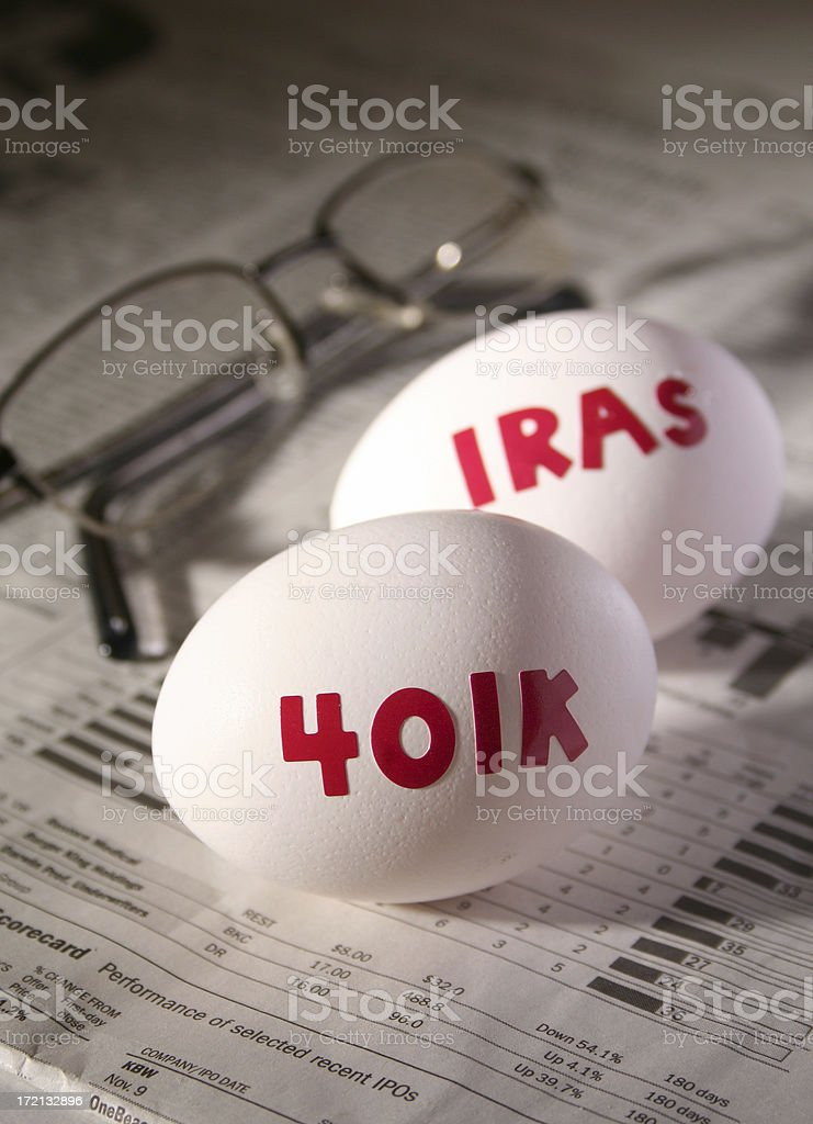 Financial Investment eggs royalty-free stock photo