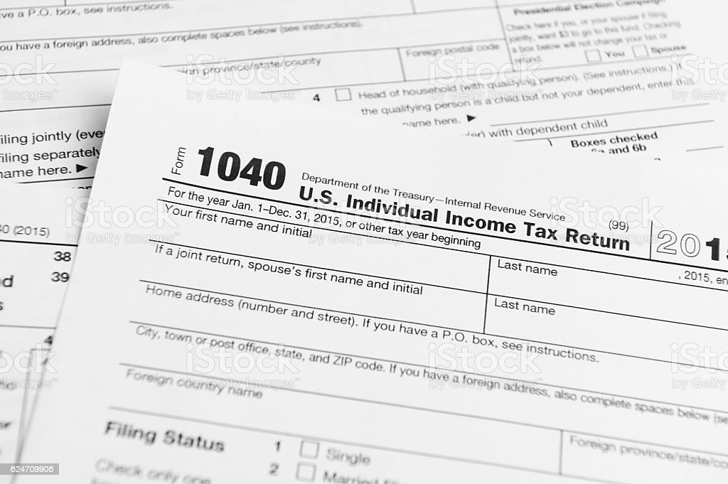 Financial Irs Tax Return Forms Stock Photo More Pictures Of 1040