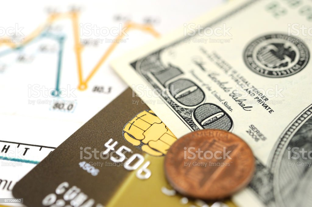 Financial items stock photo