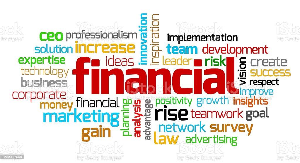 financial keywords stock photo