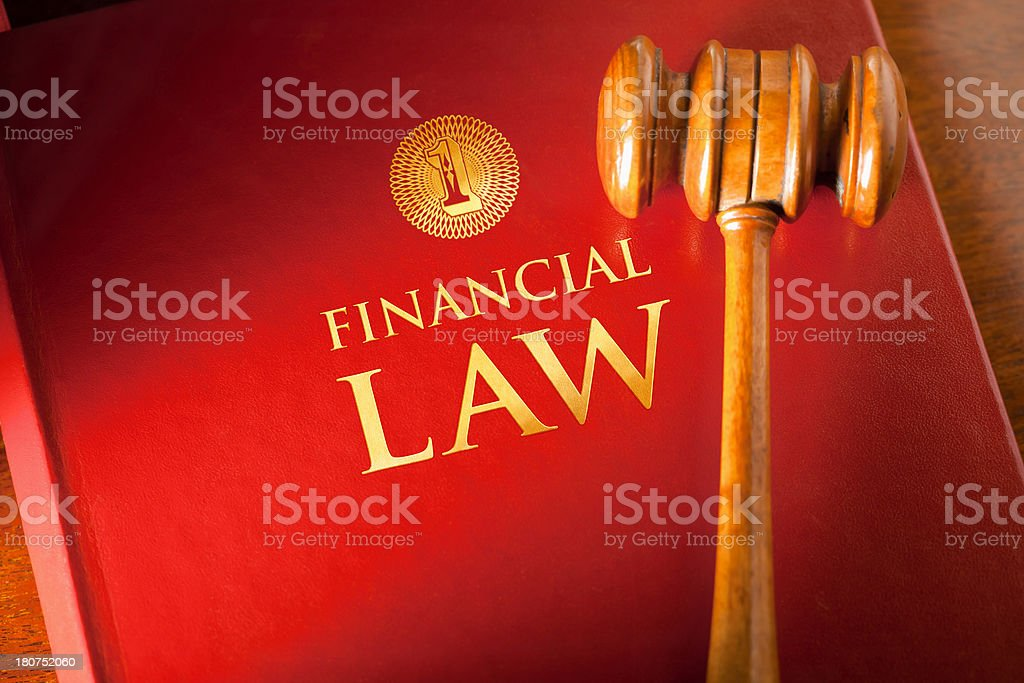 Financial Law royalty-free stock photo