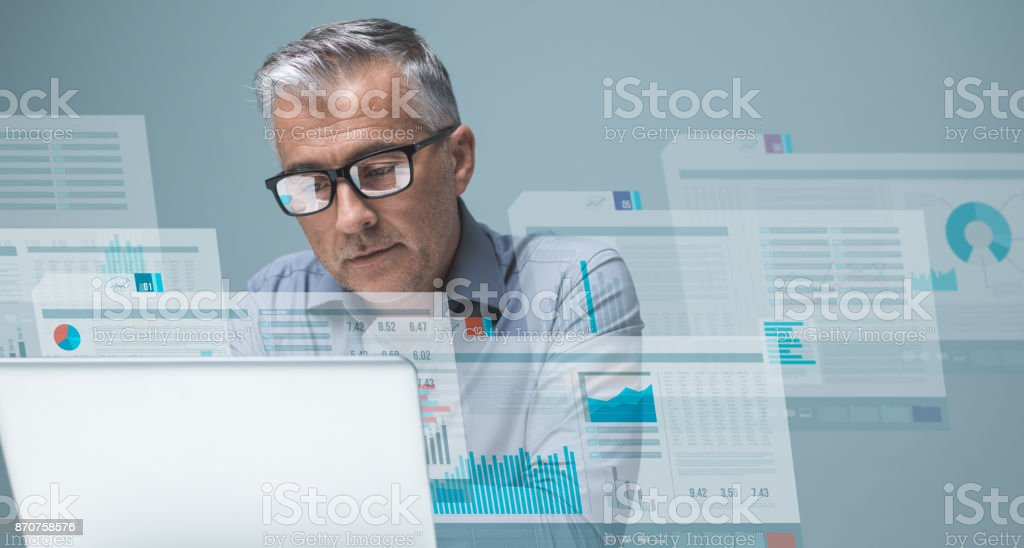 Financial management and technology stock photo