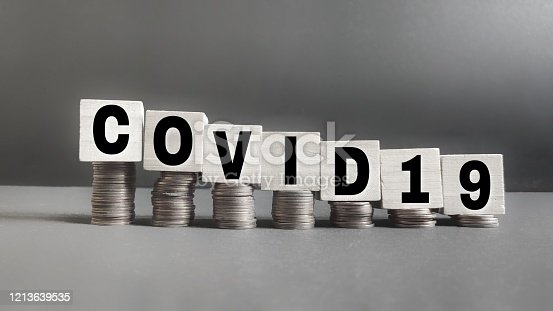 text covid19 written on wooden blocks concept stock photo