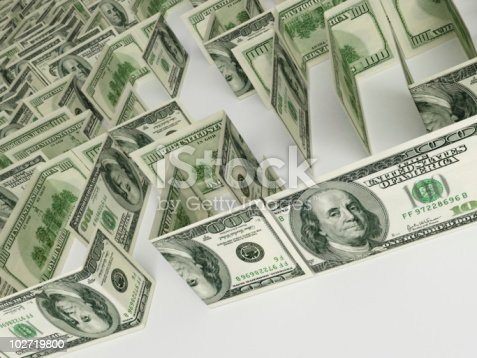 Financial Maze Stock Photo & More Pictures of American One Hundred Dollar Bill