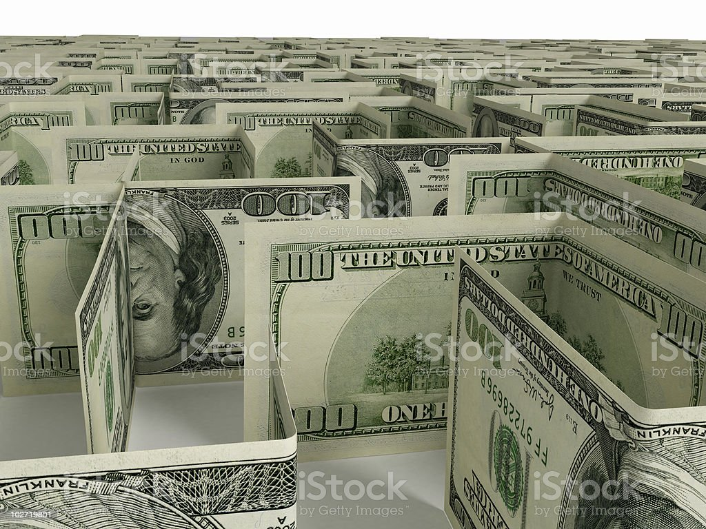 Financial Maze stock photo