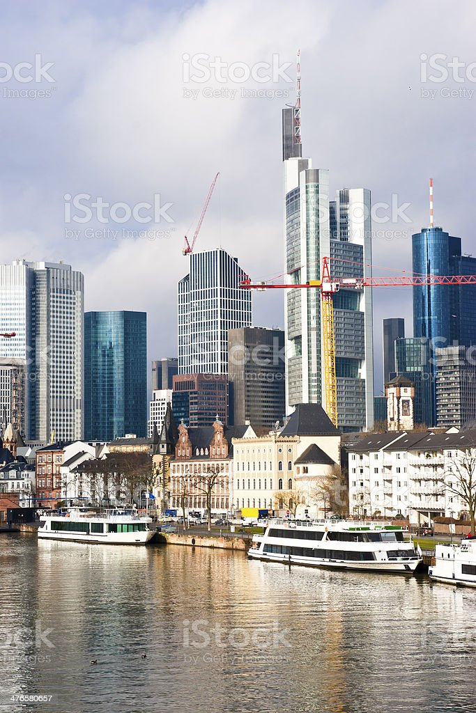 Financial Metropolis Frankfurt Germany royalty-free stock photo