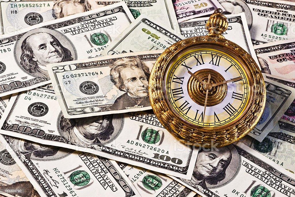 Financial Money Watch royalty-free stock photo