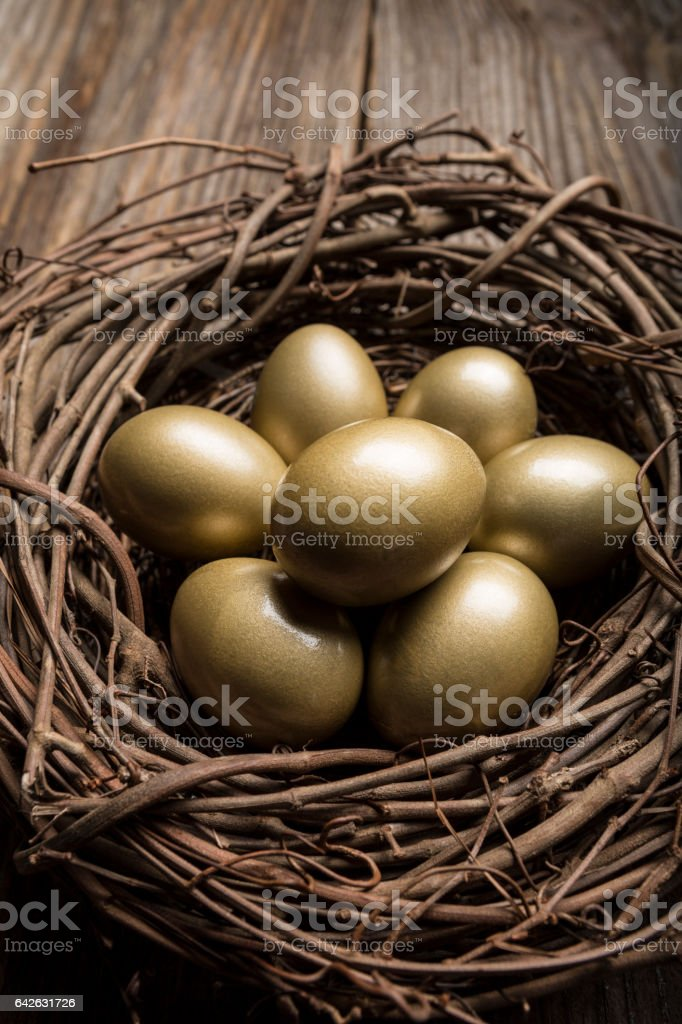 Financial Nest Egg and Building Additional Wealth and financial planning stock photo