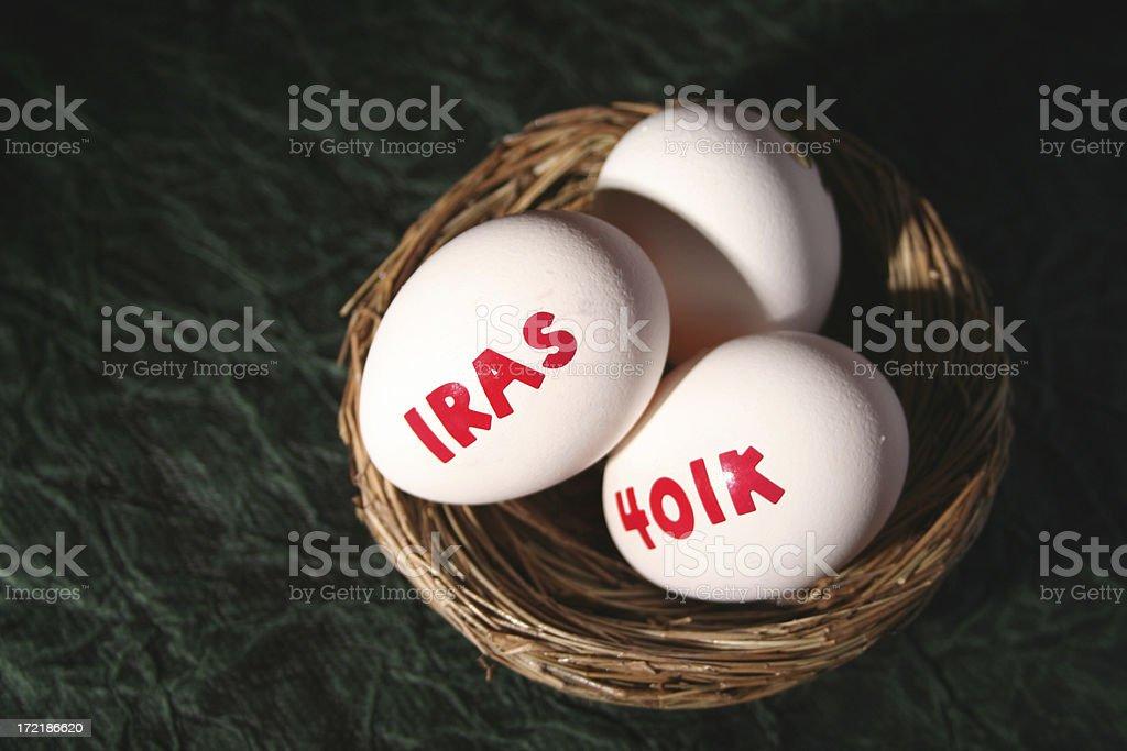 Financial nest egg royalty-free stock photo