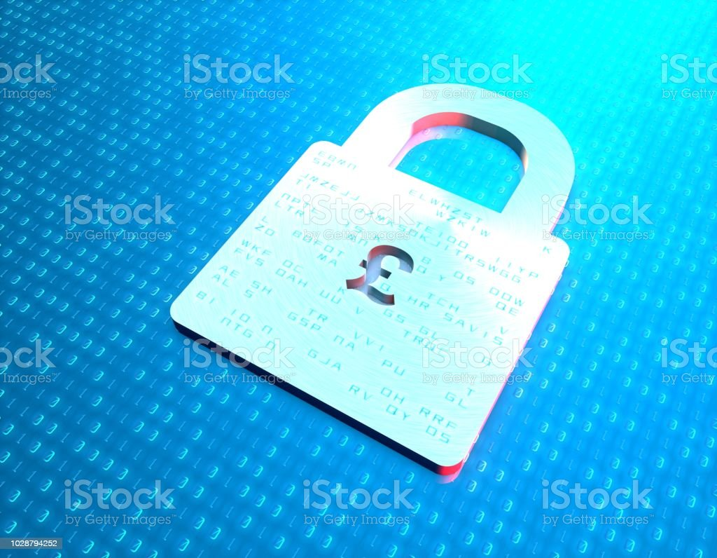 3D synthetic illustrations, representing financial security, online...
