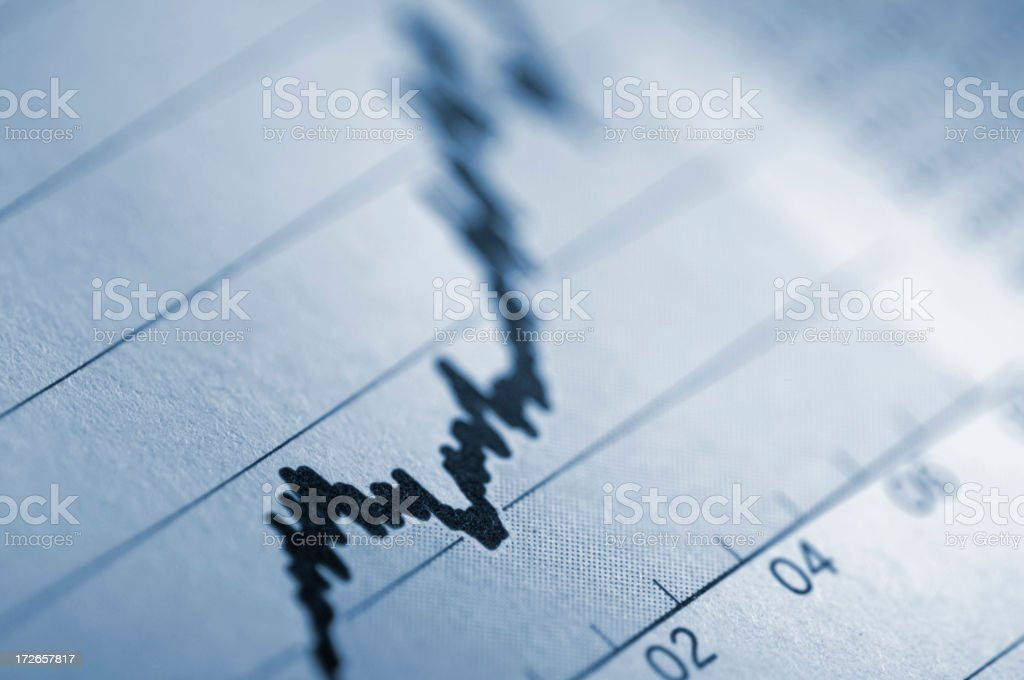 financial newspaper series stock photo