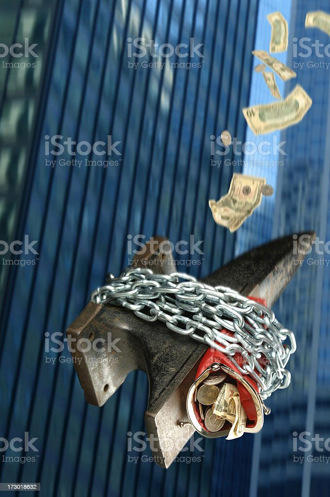Financial Nose Dive royalty-free stock photo