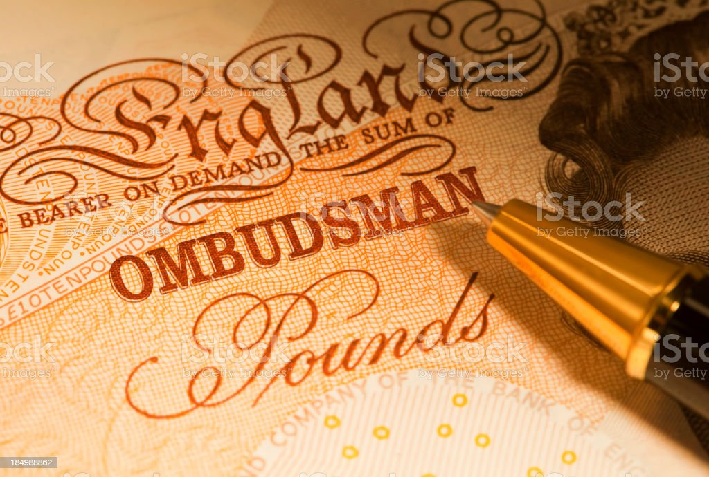 Financial Ombudsman royalty-free stock photo