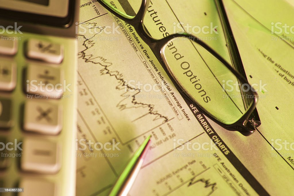 Financial Options stock photo