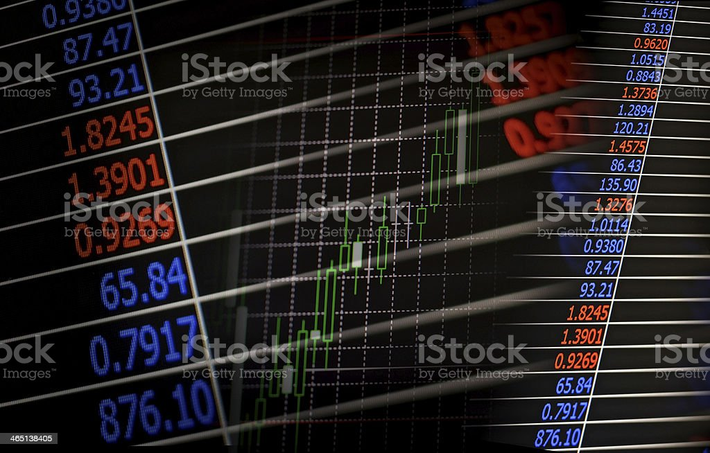 Financial or business background stock photo
