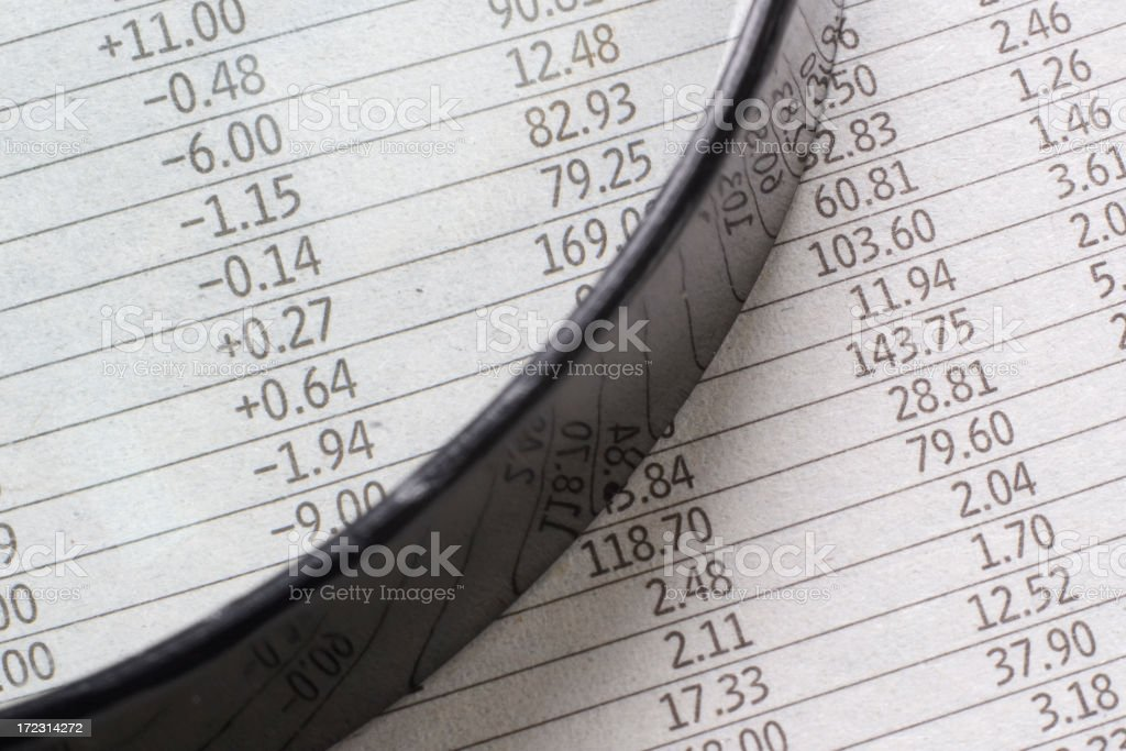 Financial pages stock photo