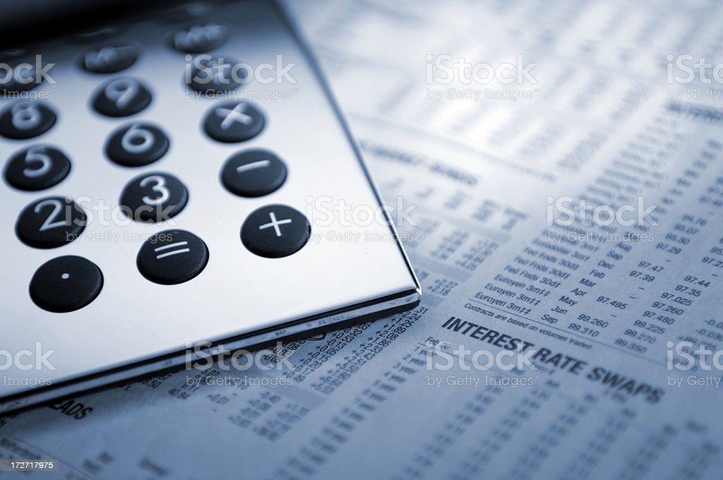 financial paper series stock photo