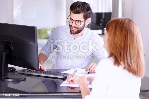 istock Financial people at work 510016850