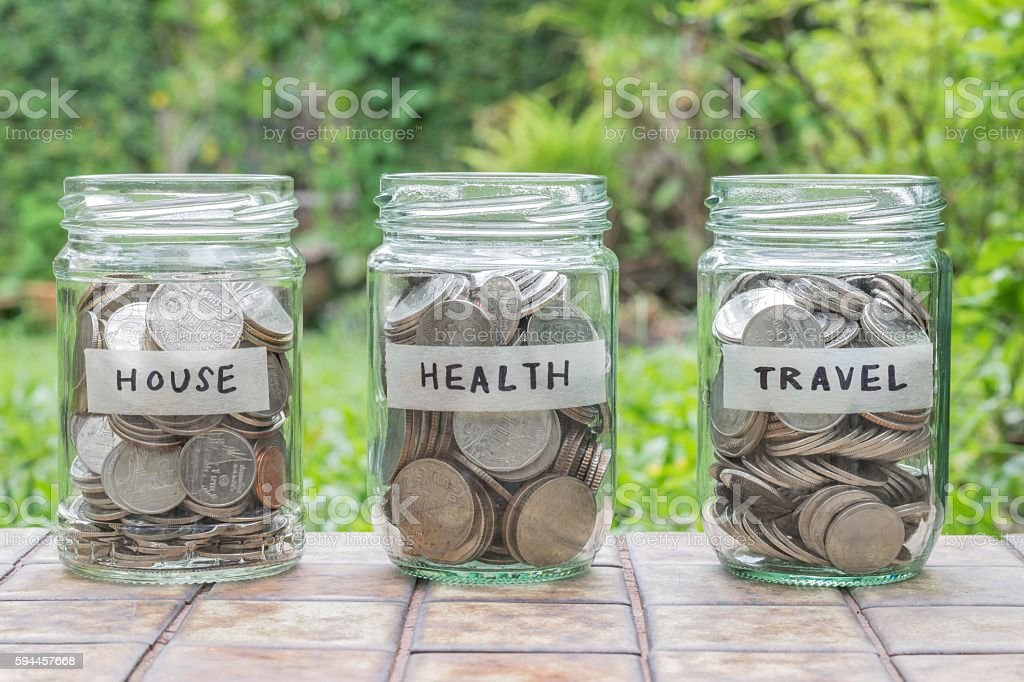 financial plan for life stock photo