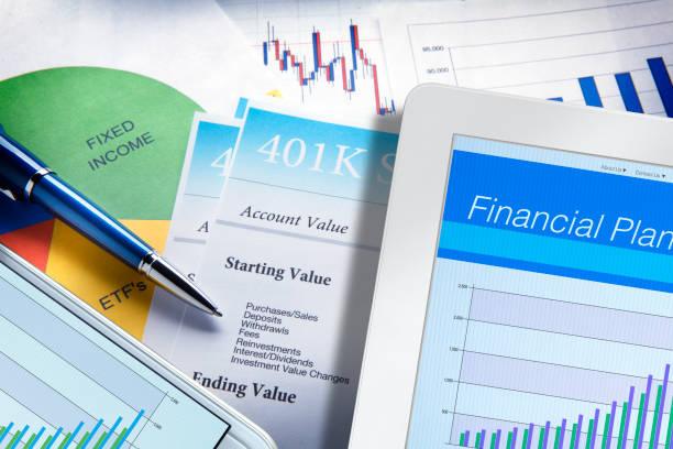 Financial Plan Still Life stock photo