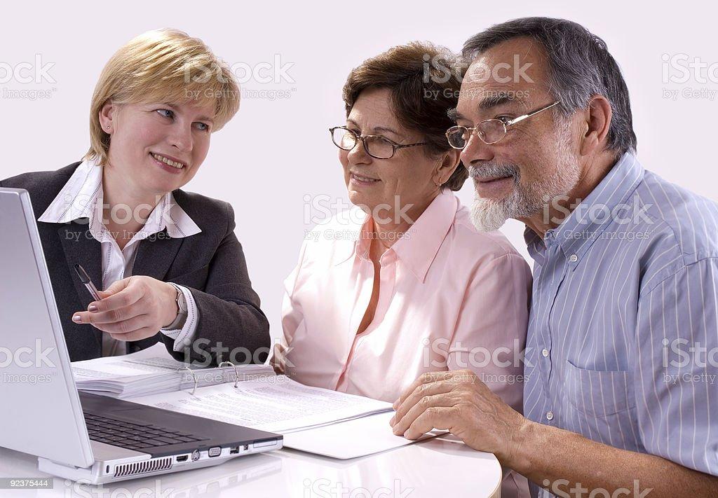 Finanzberater Lizenzfreies stock-foto