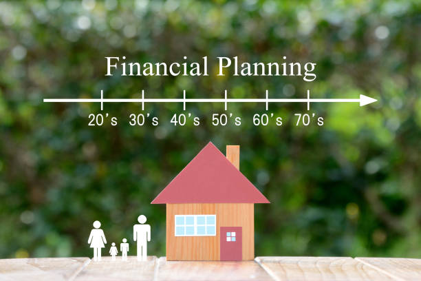 Financial planning about my home images stock photo