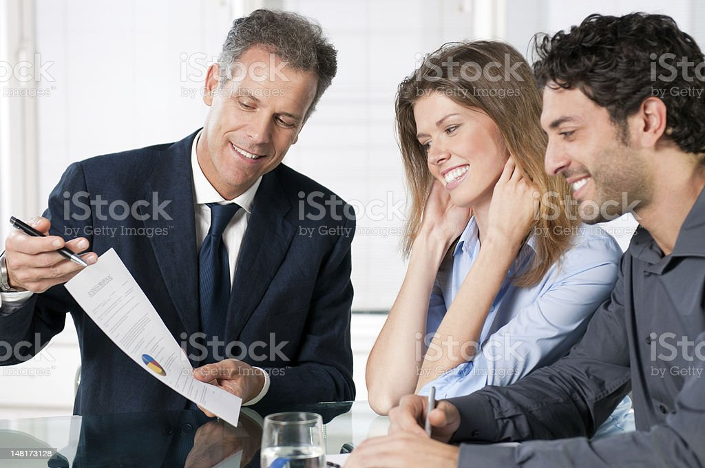 Financial planning consultation royalty-free stock photo