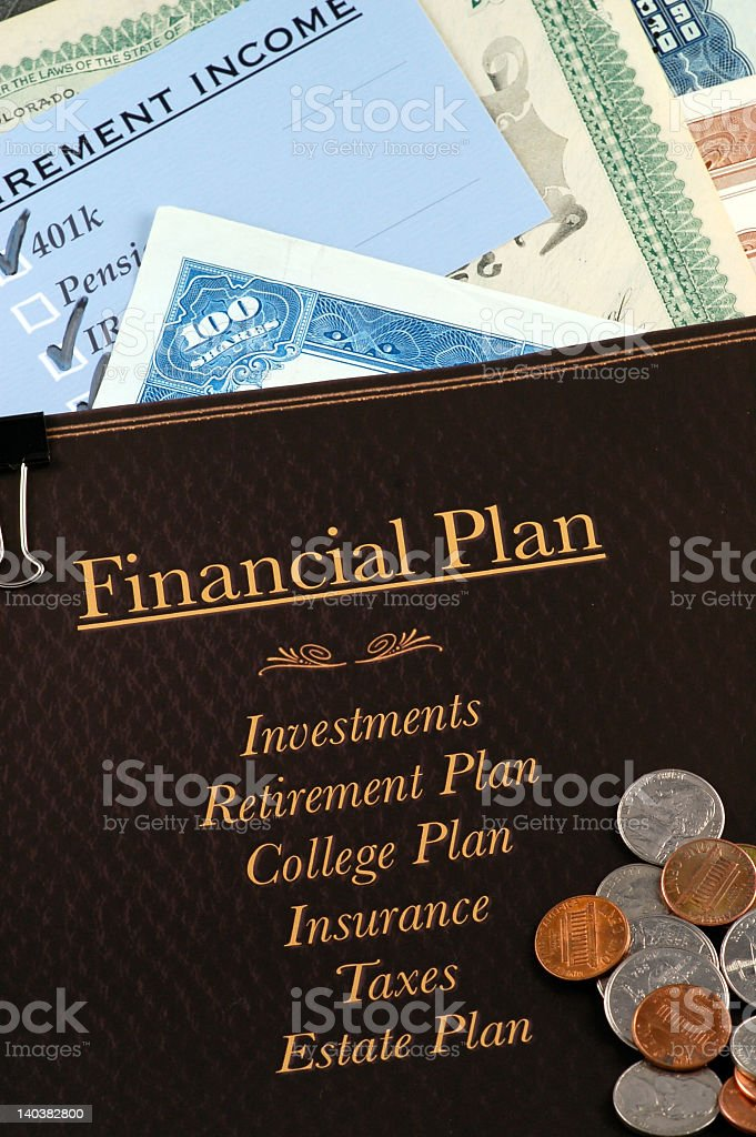 Financial plan's components concept photo royalty-free stock photo